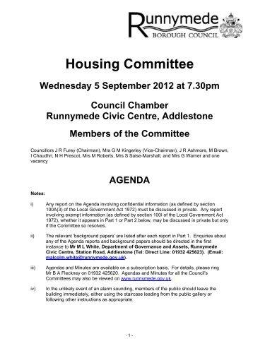 HC1 September 2012 - Runnymede Borough Council