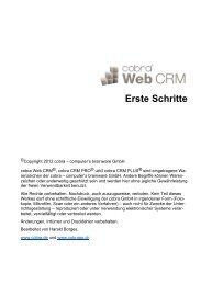 cobra Web CRM 2011