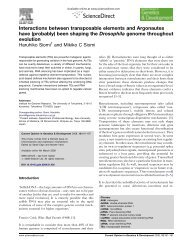 Interactions between transposable elements and Argonautes have ...