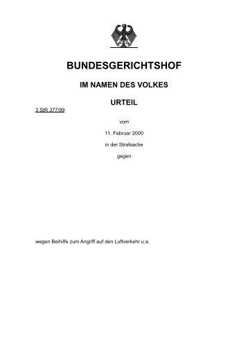 BUNDESGERICHTSHOF - Legislationline