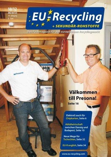 EU-Recycling 10/2012 - Presona AB
