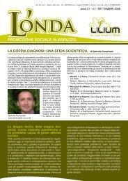 L'Onda n.1 - Coop LILIUM: la doppia diagnosi una sfida scientifica
