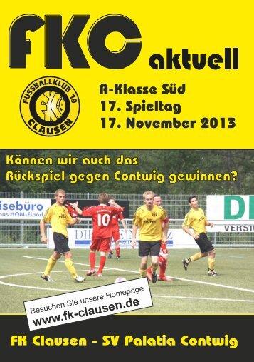 FKC Aktuell - 17. Spieltag 2013/2014