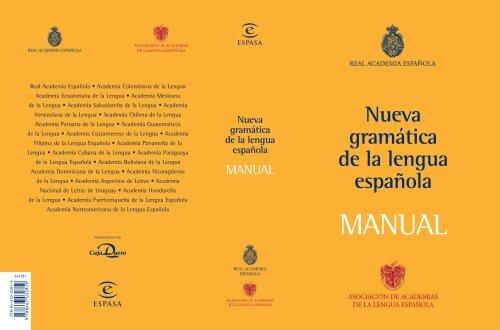 Rae Manual De La Nueva Gramatica De La Lengua Espanola Pdf