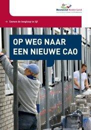 de brochure Op weg naar een nieuwe cao - Bouwend Nederland