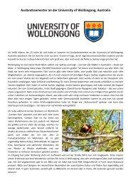University of Wollongong, Partnerschaftsprogramm, 2012