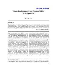 Myasthenia gravis from Thomas Willis to the present