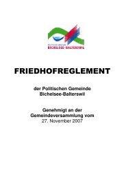 Friedhofreglement [PDF, 108 KB] - Gemeinde Bichelsee-Balterswil