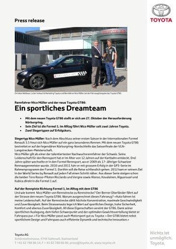 Press release - Toyota Schweiz