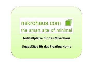 Aufstell und Liegeplätze - mikrohaus.com