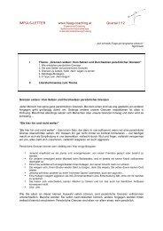 IMPULSLETTER 1-12- Grenzen setzen - Haag Coaching