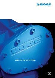 BOGE AIR. THE AIR TO WORK. - Boge Kompressoren