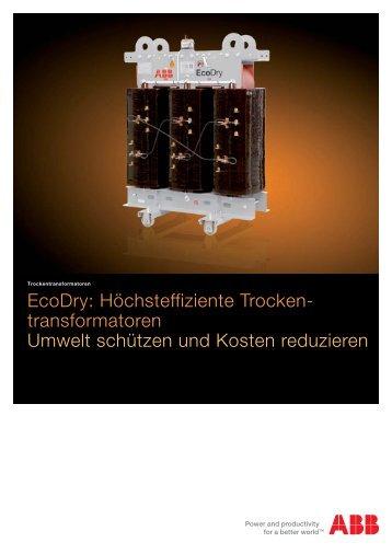 EcoDry Trockentransformator - Agentur Trafo-Umwelt