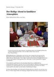 Der Heilige Abend in familiärer Atmosphäre - Gemeinde Rickenbach