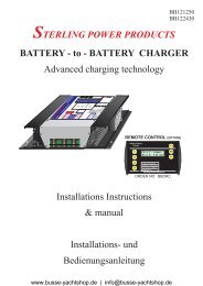BATTERY CHARGER - Busse Yachtshop