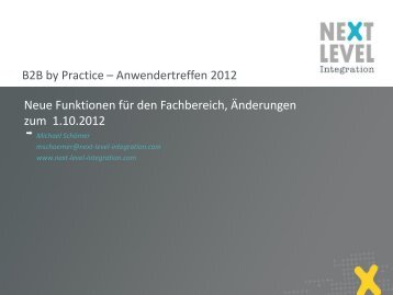 Neue Features fachlich - Next Level Help