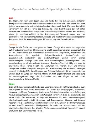 Farbpsychologie Magazine