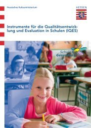 IQES Instrumente zur Schulentwicklung - Schule & Gesundheit