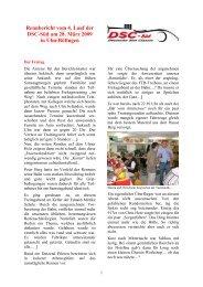 Rennbericht Ulm - SRC - Region Stuttgart