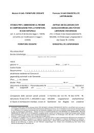 Gas-Bonus: Formular D eingestellte Lieferungen