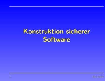 Konstruktion sicherer Software