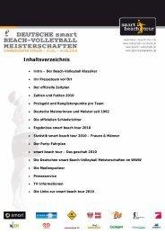 Alle Infos zum Turnier kompakt - Deutscher Volleyball-Verband