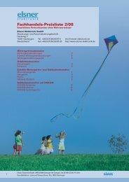 Fachhandels-Preisliste 2/08