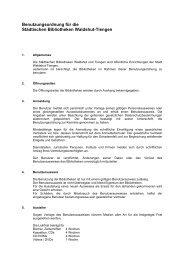 Benutzungsordnung - Stadt Waldshut-Tiengen