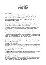 Gottesdienst am 29.08.2004 Text: Apg 9:1-19a Die Bekehrung des ...