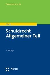 Schuldrecht Allgemeiner Teil - Nomos