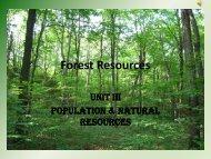 Forest resources - GTU Campus