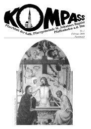 Kompass Ausgabe 1 / Februar 2008 - Herzlich willkommen