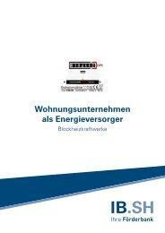 Blockheizkraftwerke - Investitionsbank Schleswig-Holstein