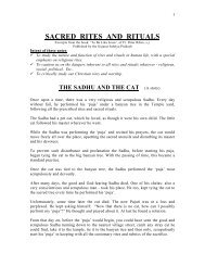 SACRED RITES AND RITUALS