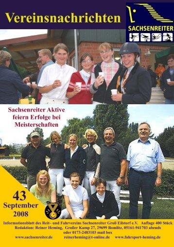 43 Vereinsnachrichten - Sachsenreiter
