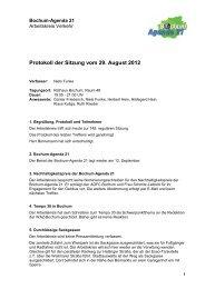 Protokoll der Sitzung vom 29. August 2012 - Bochum Agenda 21
