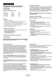 Digitale Zeitschaltuhr 7LF35.. - Siemens