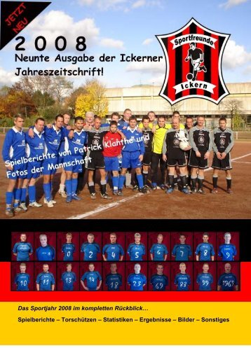 Das Sportjahr 2008 im kompletten Rückblick… Spielberichte ...