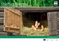 unsere Gemeinsamen GestaltunGsrichtlinien - Urlaub am Bauernhof