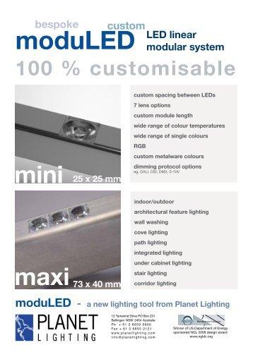 moduLED LED linear modular system 25 x 25 mm ... - Planet Lighting
