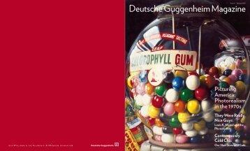 Deutsche Guggenheim Magazine, Spring 2009 - Judith Seng