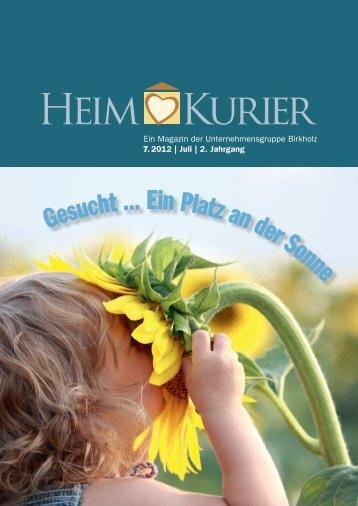 Ein Magazin der Unternehmensgruppe Birkholz 7. 2012   Juli   2 ...