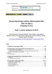 Deutschsprachige Leitlinie: Melanozytäre Nävi (ICD 10 ... - AWMF