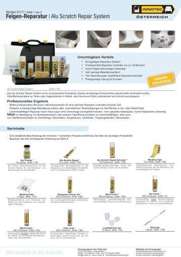 Felgen-Reparatur | Alu Scratch Repair System - Innotec Österreich