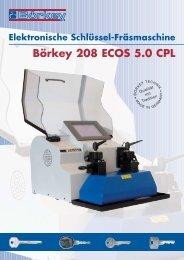 Elektronische Schlüssel-Fräsmaschine Börkey 208 ECOS 5.0 CPL