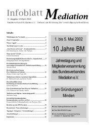 10 Jahre BM - Bundesverband Mediation eV