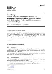 Verordnung über die integrative Schulung von Kindern und ...