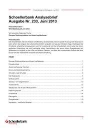 Schoellerbank Analysebrief Ausgabe Nr. 233 ... - Schoellerbank AG