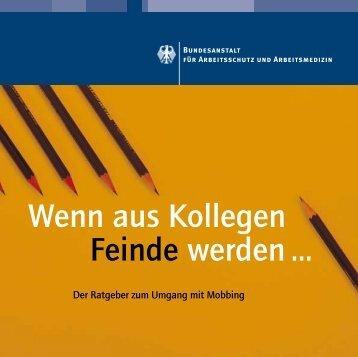 """Broschüre """"Wenn aus Kollegen Feinde werden … - Der Ratgeber ..."""