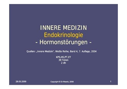 INNERE MEDIZIN Endokrinologie - Hormonstörungen ...